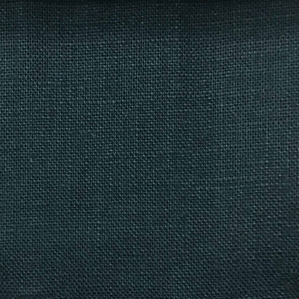 Brighton - 100% Linen Fabric Window Curtain & Drapery Fabric by the Yard - Available in 48 Colors - Navy Blue - Top Fabric - 30
