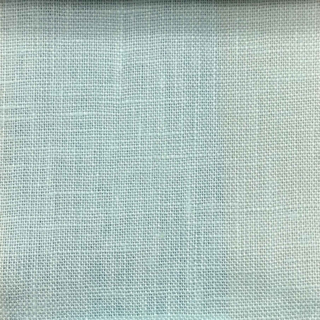 Brighton - 100% Linen Fabric Window Curtain & Drapery Fabric by the Yard - Available in 48 Colors - Robin's Egg - Top Fabric - 35