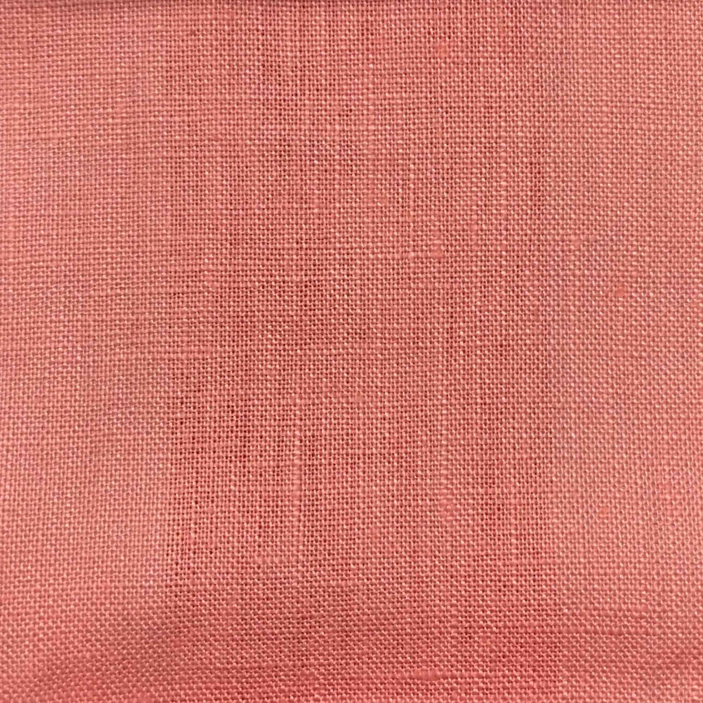 Brighton - 100% Linen Fabric Window Curtain & Drapery Fabric by the Yard - Available in 48 Colors - Rouge - Top Fabric - 9