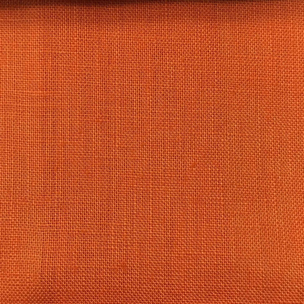 Brighton - 100% Linen Fabric Window Curtain & Drapery Fabric by the Yard - Available in 48 Colors - Saffron - Top Fabric - 6