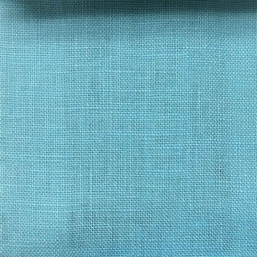 Brighton - 100% Linen Fabric Window Curtain & Drapery Fabric by the Yard - Available in 48 Colors - Sky Blue - Top Fabric - 34