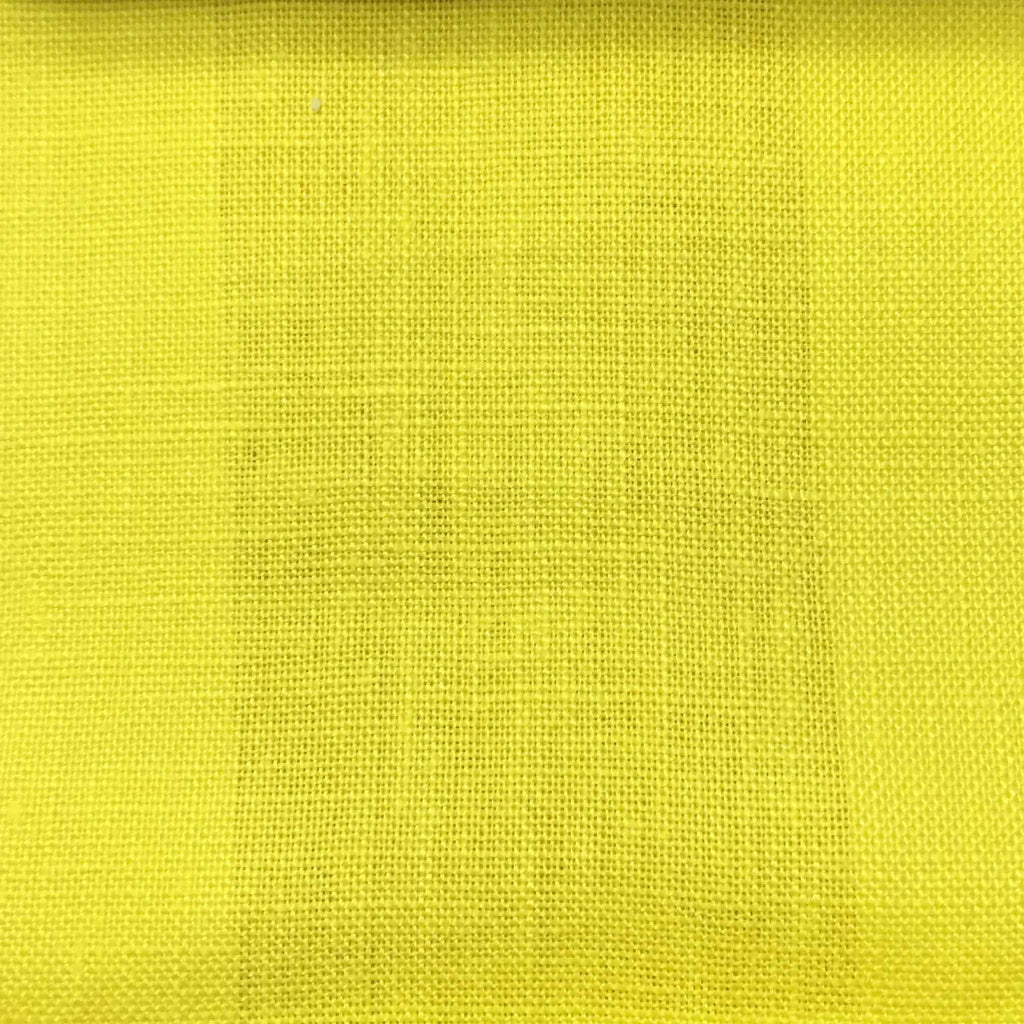 Brighton - 100% Linen Fabric Window Curtain & Drapery Fabric by the Yard - Available in 48 Colors - Sunny - Top Fabric - 16