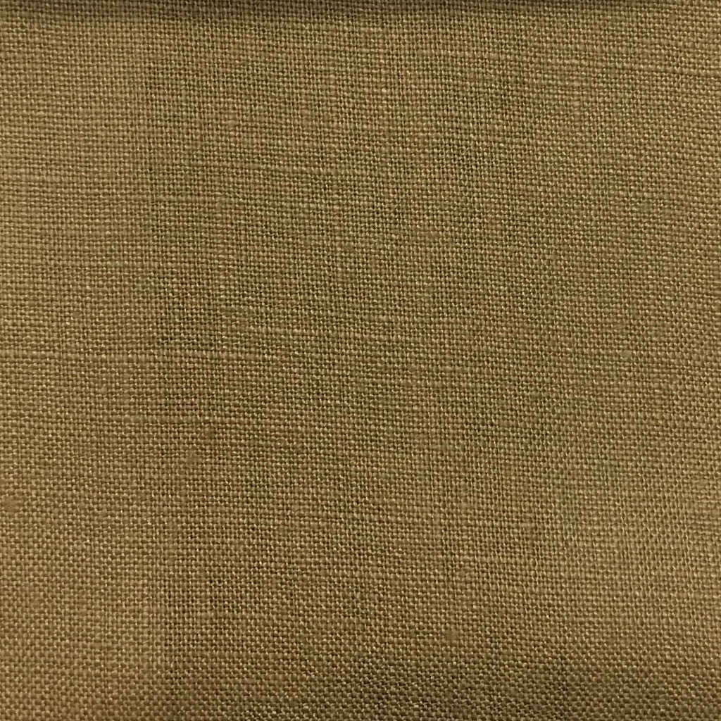 Brighton - 100% Linen Fabric Window Curtain & Drapery Fabric by the Yard - Available in 48 Colors - Tan - Top Fabric - 21