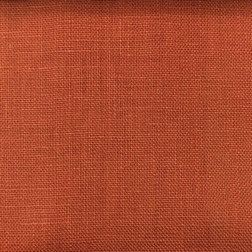 Brighton - 100% Linen Fabric Window Curtain & Drapery Fabric by the Yard - Available in 48 Colors - Tomato - Top Fabric - 7