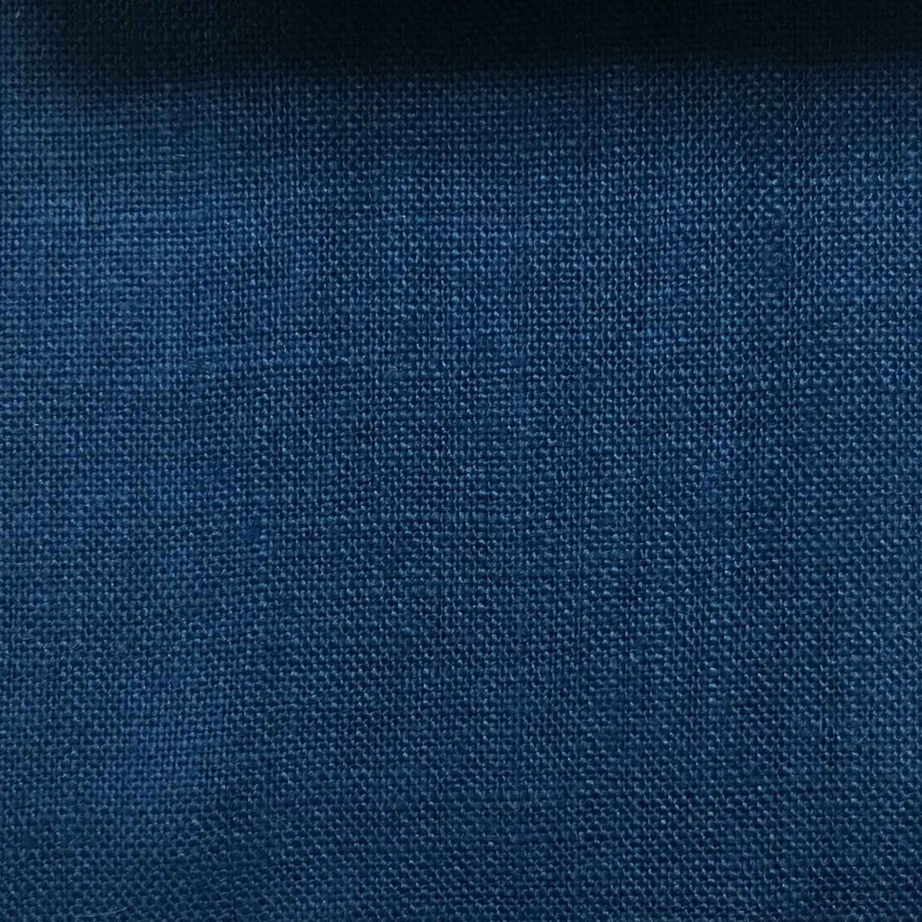 Brighton - 100% Linen Fabric Window Curtain & Drapery Fabric by the Yard - Available in 48 Colors - True Blue - Top Fabric - 31
