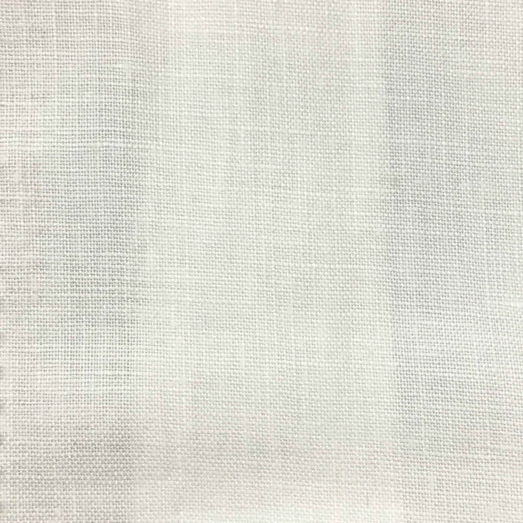 Brighton - 100% Linen Fabric Window Curtain & Drapery Fabric by the Yard - Available in 48 Colors - White - Top Fabric - 47