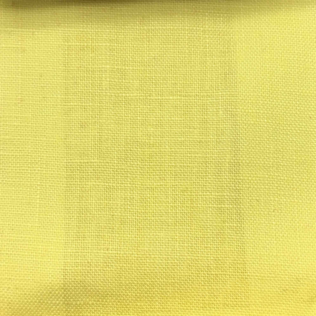 Brighton - 100% Linen Fabric Window Curtain & Drapery Fabric by the Yard - Available in 48 Colors - Yellow - Top Fabric - 17