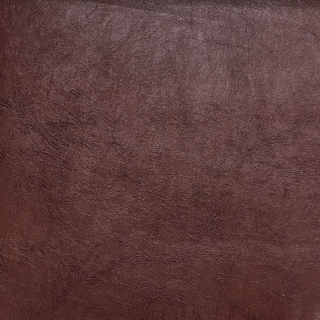 Brink - Solid Vinyl Fabric Vegan Faux Leather Upholstery Fabric by the Yard - Available in 5 Colors - Brown - 3 - Top Fabric - 2