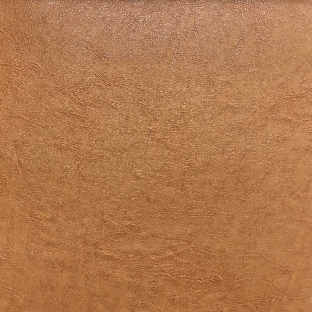Brink - Solid Vinyl Fabric Vegan Faux Leather Upholstery Fabric by the Yard - Available in 5 Colors - Camel - 2 - Top Fabric - 3
