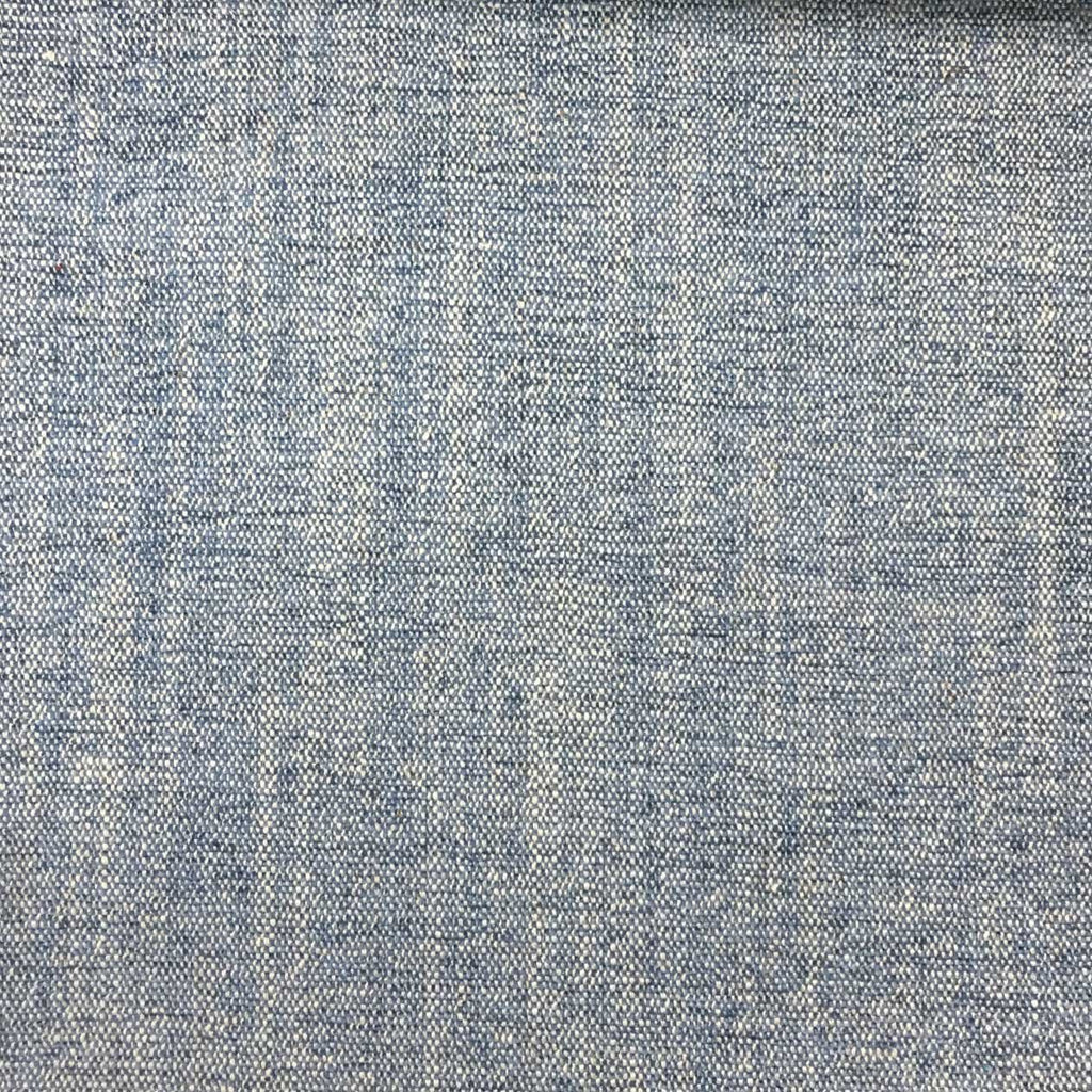Bronson - Linen Polyester Blend Textured Chenille Upholstery Fabric by the Yard - Available in 25 Colors - Denim - Top Fabric - 5