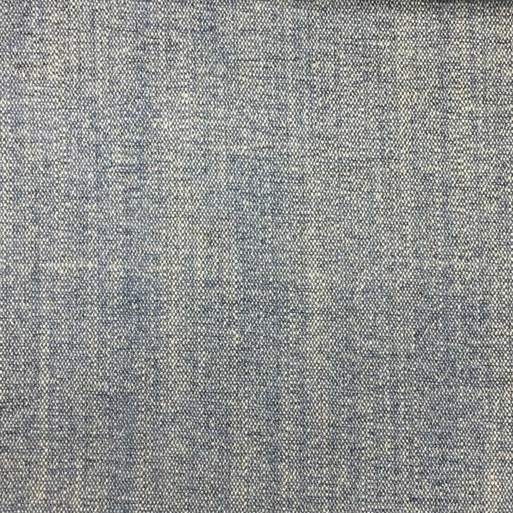 Bronson - Linen Polyester Blend Textured Chenille Upholstery Fabric by the Yard - Available in 25 Colors - Indigo - Top Fabric - 4