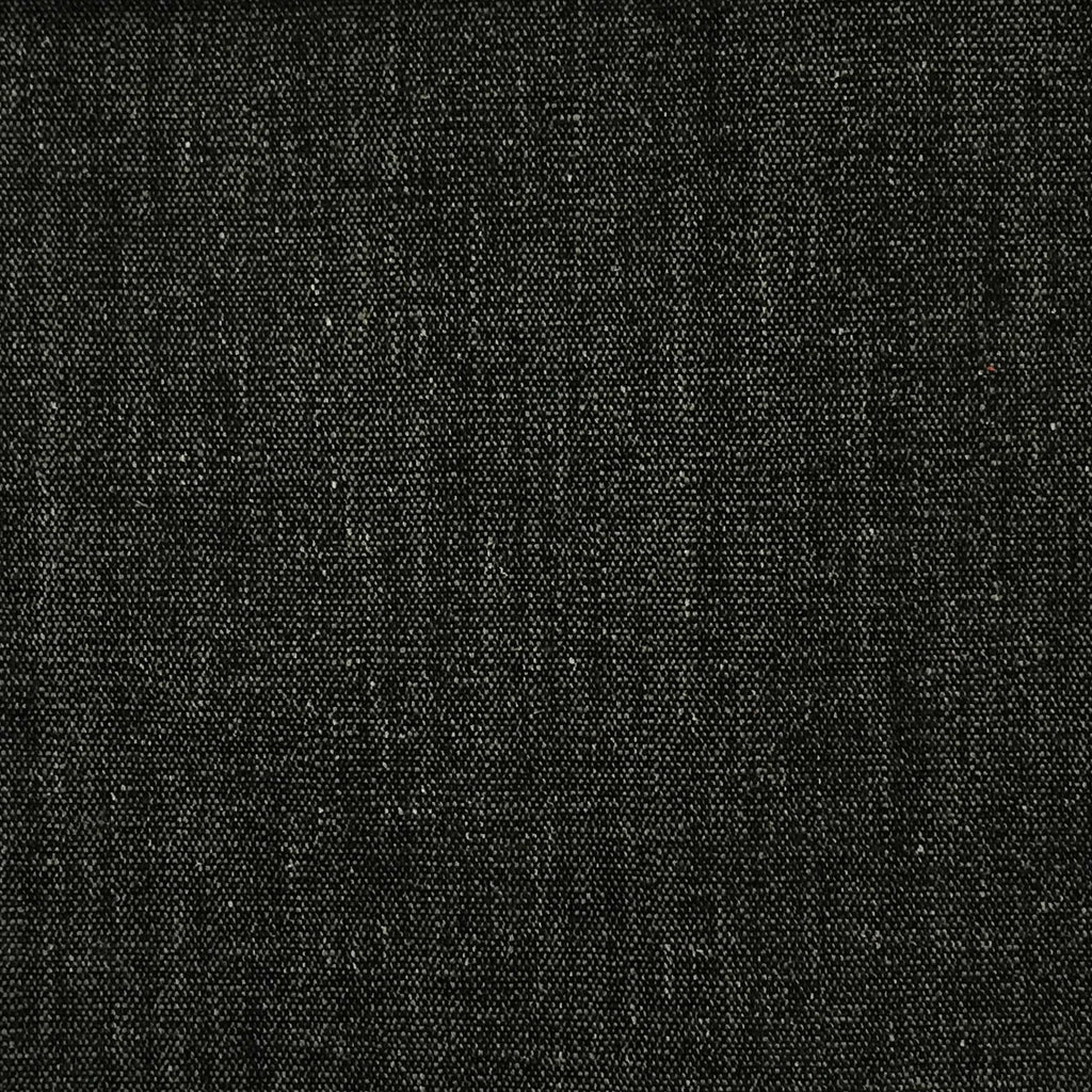 Bronson - Linen Polyester Blend Textured Chenille Upholstery Fabric by the Yard - Available in 25 Colors - Caviar - Top Fabric - 9