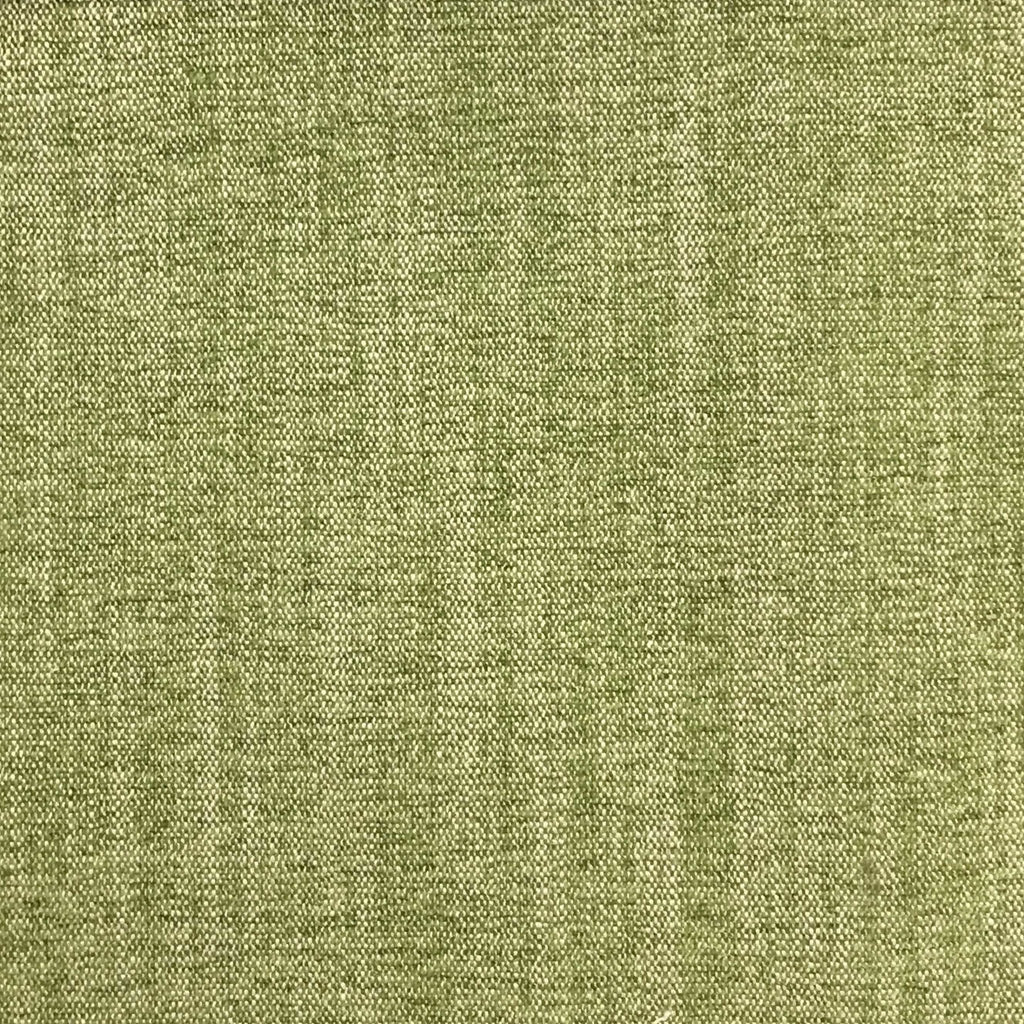 Bronson - Linen Polyester Blend Textured Chenille Upholstery Fabric by the Yard - Available in 25 Colors - Grass - Top Fabric - 20