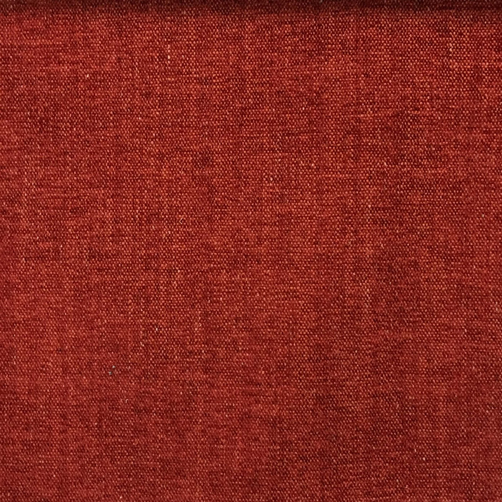 Bronson - Linen Polyester Blend Textured Chenille Upholstery Fabric by the Yard - Available in 25 Colors - Henna - Top Fabric - 21