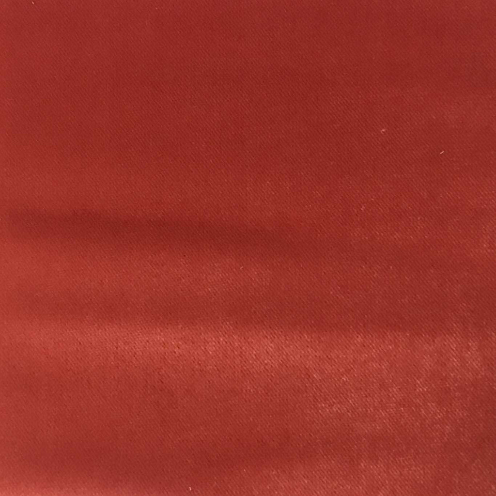 Byron - Premium Plush Sateen Velvet Upholstery Fabric by the Yard - Available in 49 Colors - Coral - Top Fabric - 29