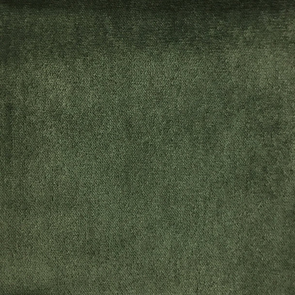 Byron - Premium Plush Sateen Velvet Upholstery Fabric by the Yard - Available in 49 Colors - Basil - Top Fabric - 16
