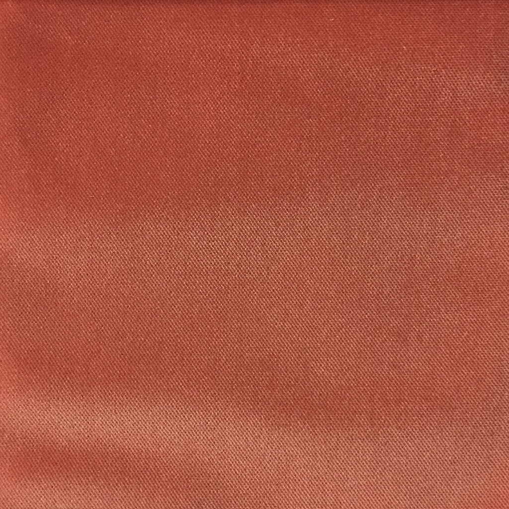 Byron - Premium Plush Sateen Velvet Upholstery Fabric by the Yard - Available in 49 Colors - Blush - Top Fabric - 25