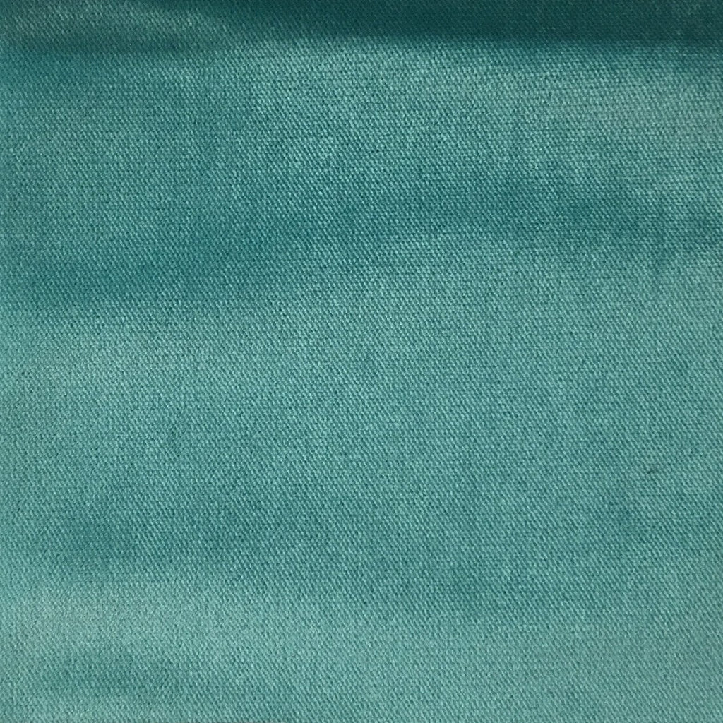 Byron - Premium Plush Sateen Velvet Upholstery Fabric by the Yard - Available in 49 Colors - Caribbean - Top Fabric - 2
