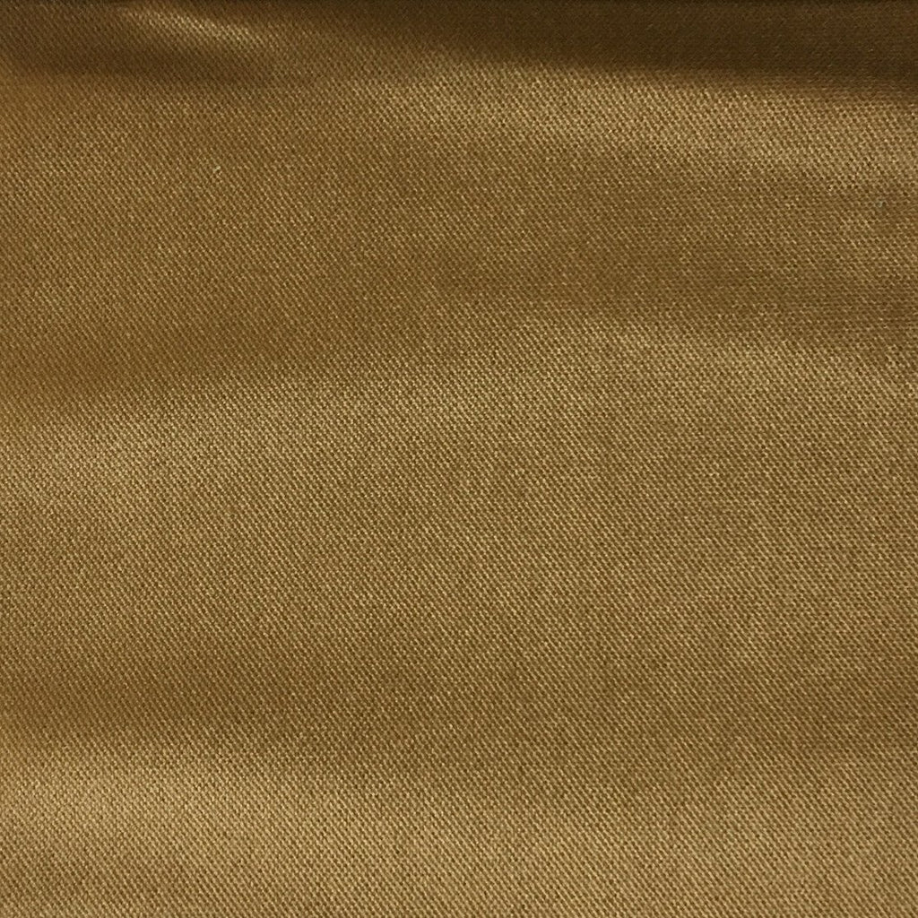 Byron - Premium Plush Sateen Velvet Upholstery Fabric by the Yard - Available in 49 Colors - Caramel - Top Fabric - 32