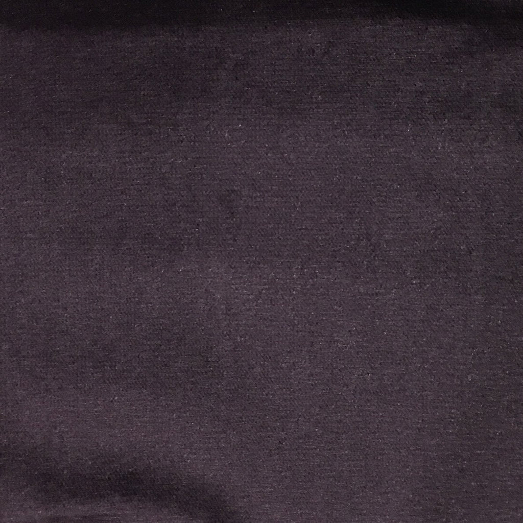 Byron - Premium Plush Sateen Velvet Upholstery Fabric by the Yard - Available in 49 Colors - Eggplant - Top Fabric - 18