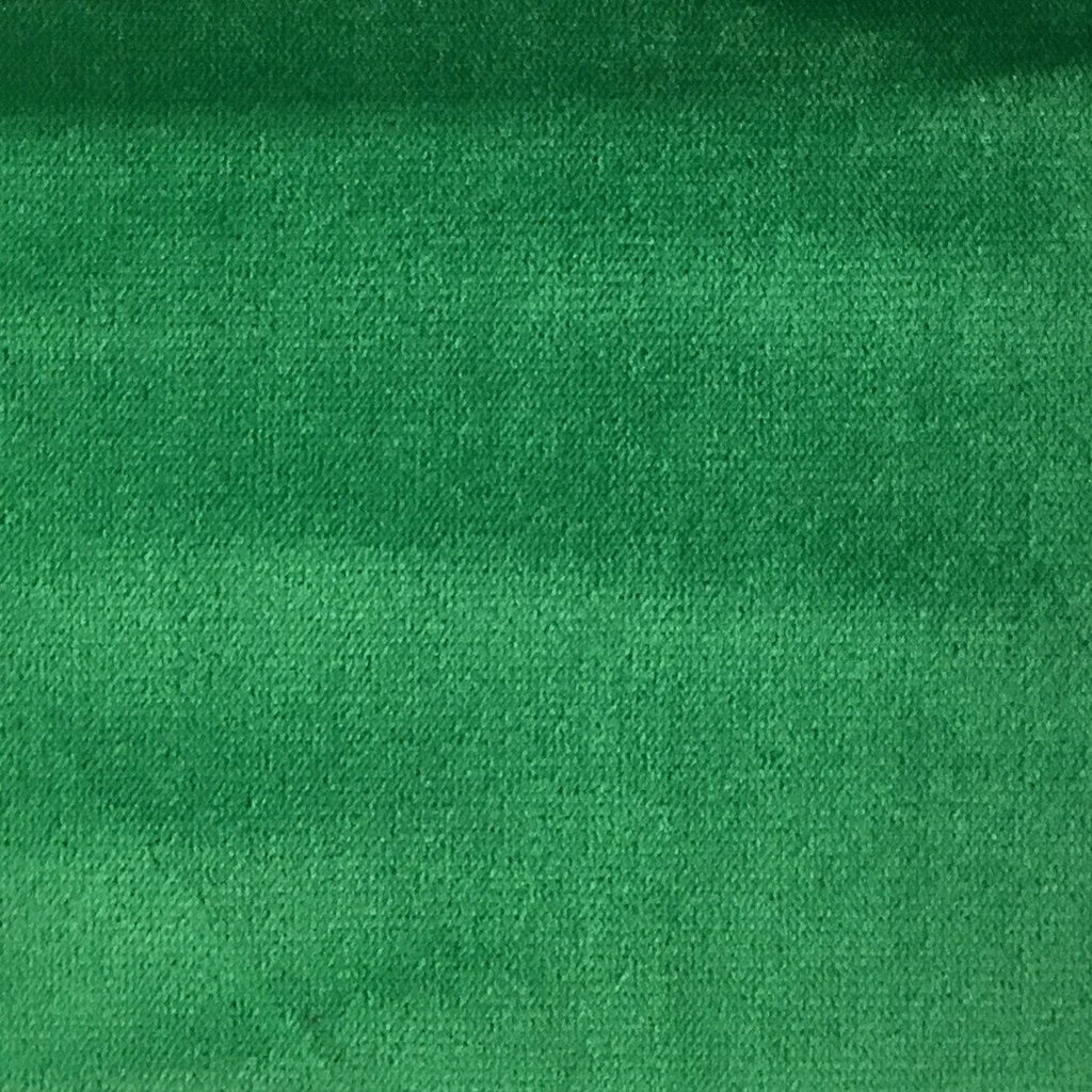 Byron - Premium Plush Sateen Velvet Upholstery Fabric by the Yard - Available in 49 Colors - Emerald - Top Fabric - 15