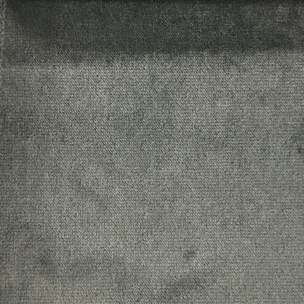 Byron - Premium Plush Sateen Velvet Upholstery Fabric by the Yard - Available in 49 Colors - Graphite - Top Fabric - 48