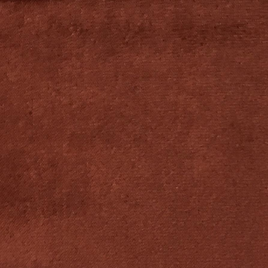 Byron - Premium Plush Sateen Velvet Upholstery Fabric by the Yard - Available in 49 Colors - Henna - Top Fabric - 28