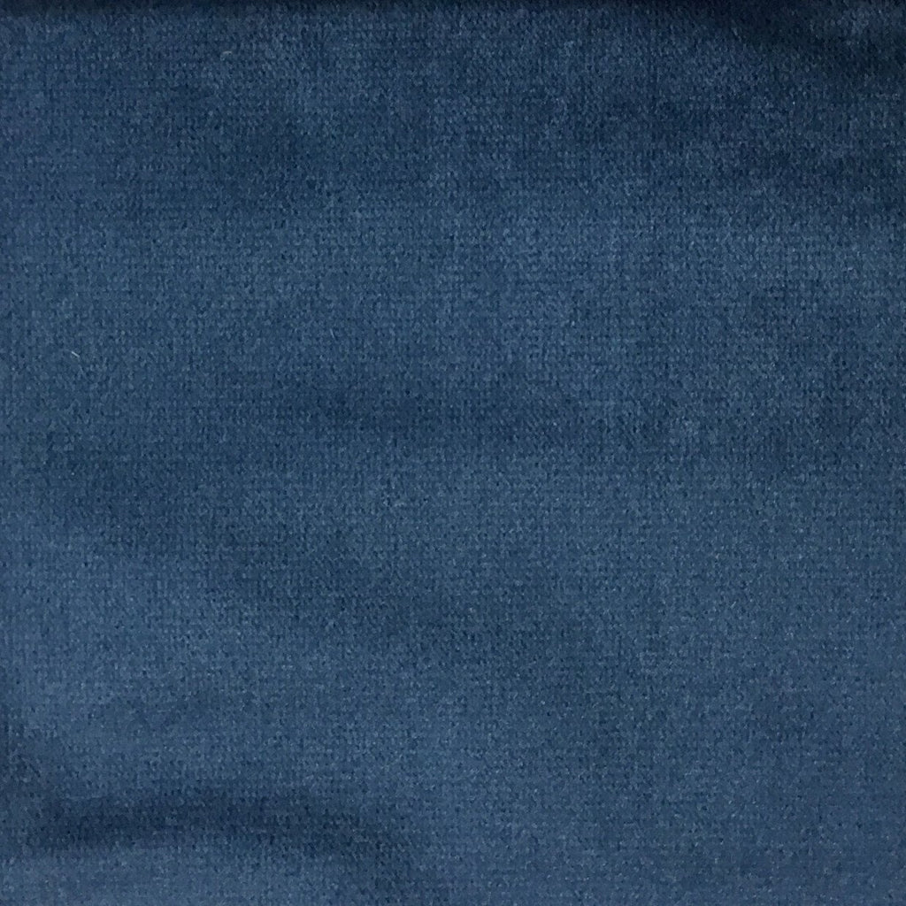 Byron - Premium Plush Sateen Velvet Upholstery Fabric by the Yard - Available in 49 Colors - Indigo - Top Fabric - 4