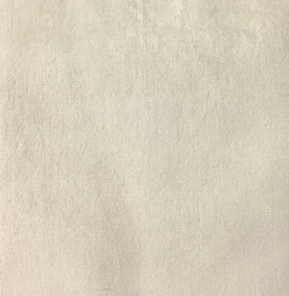 Byron - Premium Plush Sateen Velvet Upholstery Fabric by the Yard - Available in 49 Colors - Ivory - Top Fabric - 41