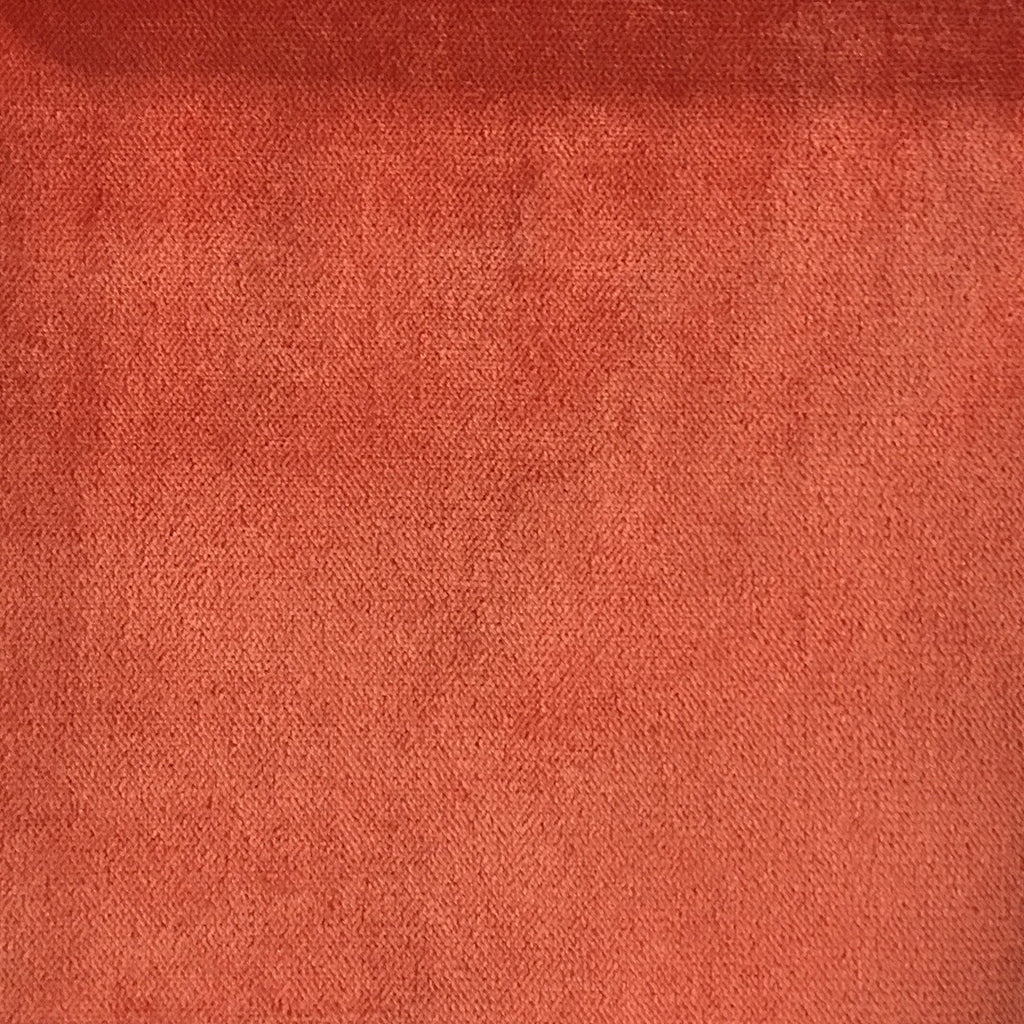 Byron - Premium Plush Sateen Velvet Upholstery Fabric by the Yard - Available in 49 Colors - Mango - Top Fabric - 26
