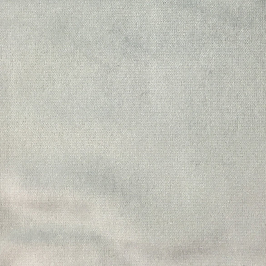 Byron - Premium Plush Sateen Velvet Upholstery Fabric by the Yard - Available in 49 Colors - Mist - Top Fabric - 43
