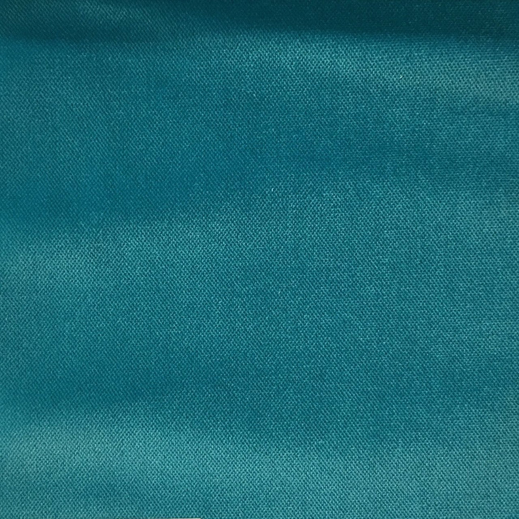 Byron - Premium Plush Sateen Velvet Upholstery Fabric by the Yard - Available in 49 Colors - Peacock - Top Fabric - 3