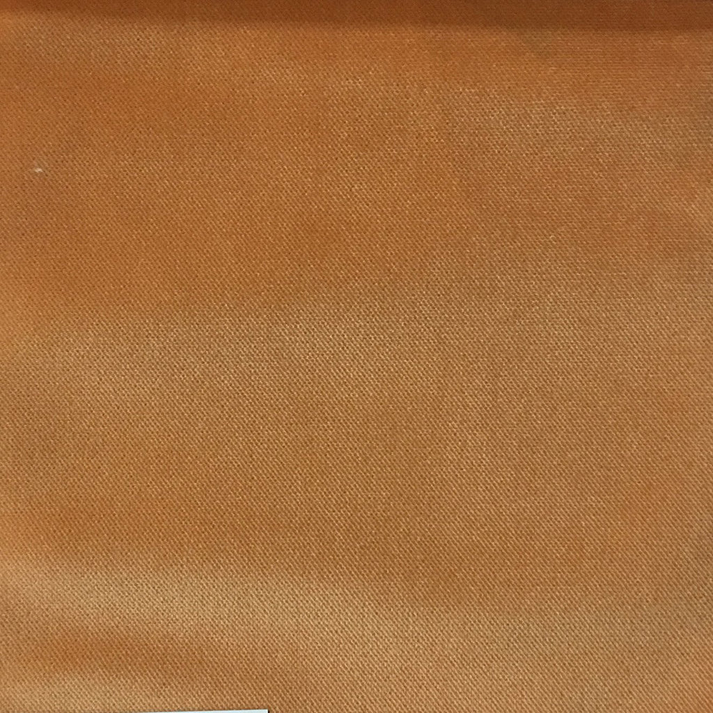 Byron - Premium Plush Sateen Velvet Upholstery Fabric by the Yard - Available in 49 Colors - Satsuma - Top Fabric - 27
