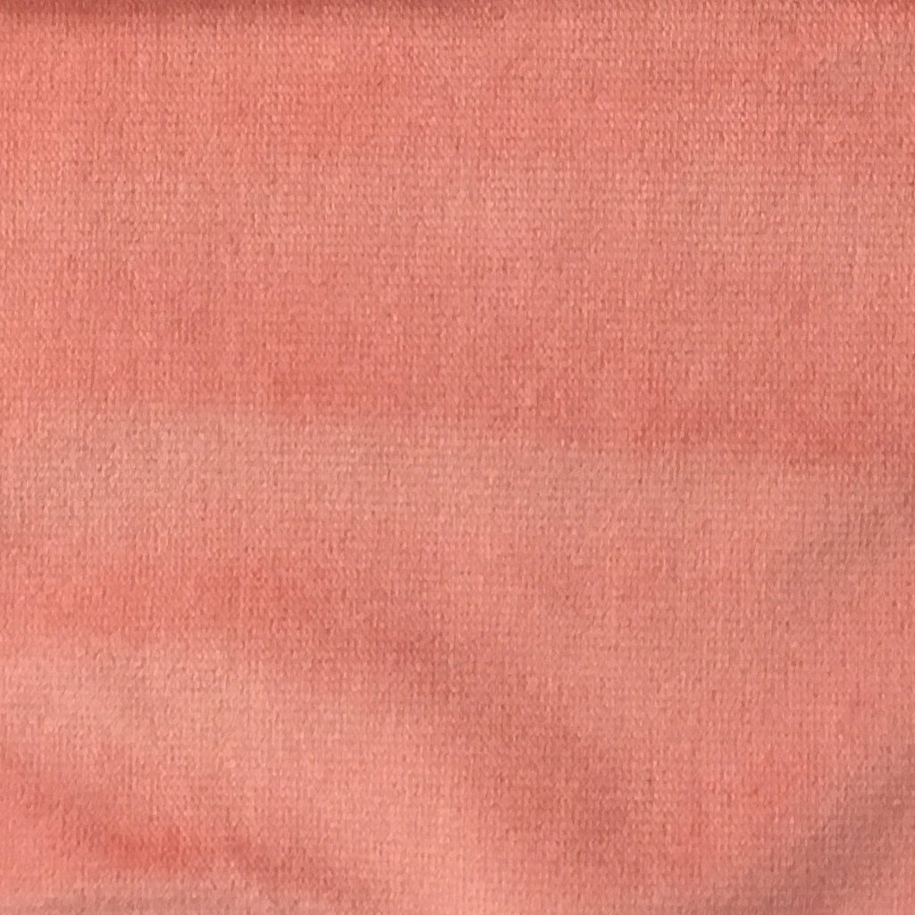 Byron - Premium Plush Sateen Velvet Upholstery Fabric by the Yard - Available in 49 Colors - Sorbet - Top Fabric - 24