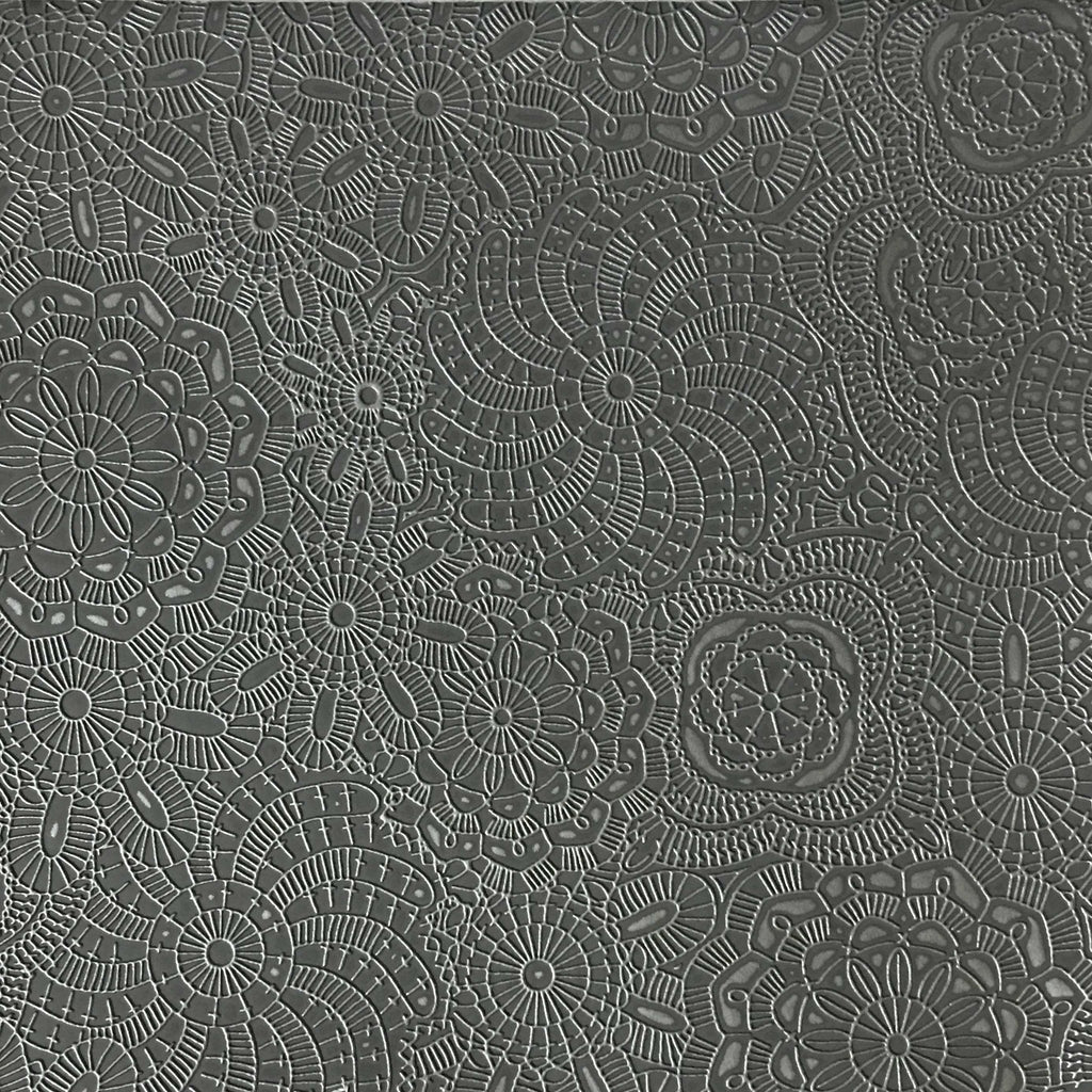 Camden - Embossed Vinyl Fabric Designer Pattern Upholstery Fabric by the Yard - Available in 10 Colors - Dolphin - Top Fabric - 9