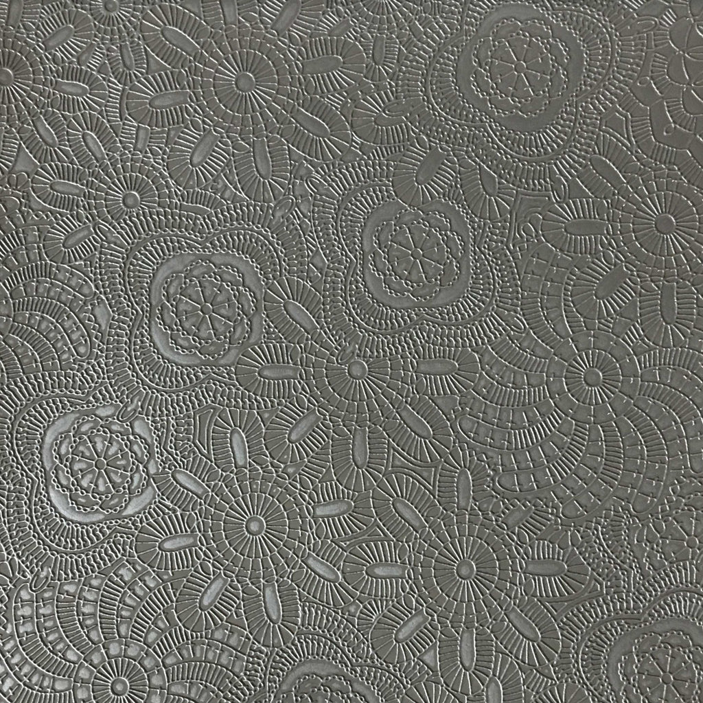 Camden - Embossed Vinyl Fabric Designer Pattern Upholstery Fabric by the Yard - Available in 10 Colors - Otter - Top Fabric - 8