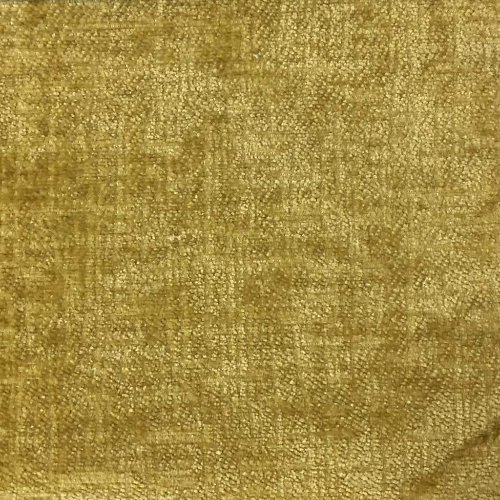 Cardinal - Chenille Upholstery Fabric by the Yard - Available in 16 Colors - Curry - Top Fabric - 6
