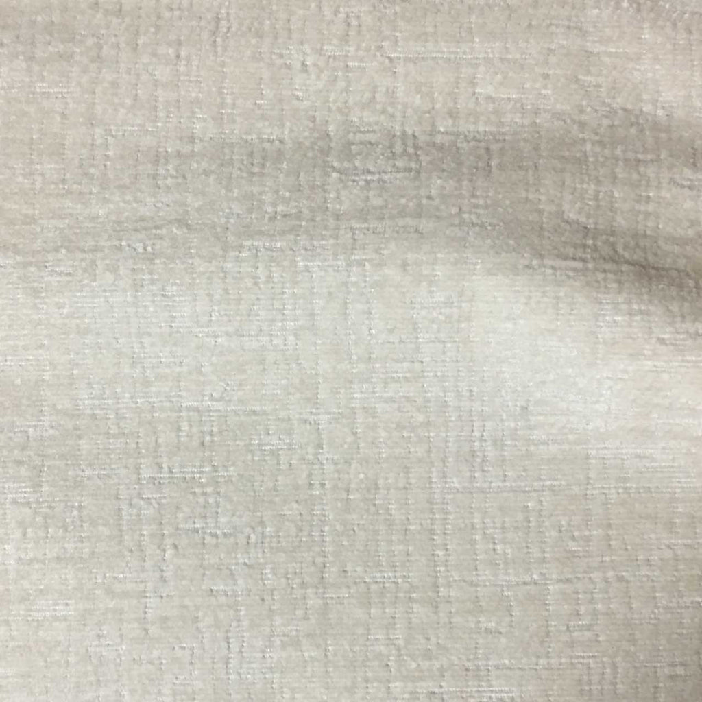 Cardinal - Chenille Upholstery Fabric by the Yard - Available in 16 Colors - Vanilla - Top Fabric - 8