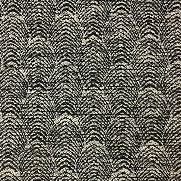 Carnaby - Jacquard Fabric Woven Designer Pattern Upholstery Fabric by the Yard - Available in 12 Colors - Domino - Top Fabric - 1