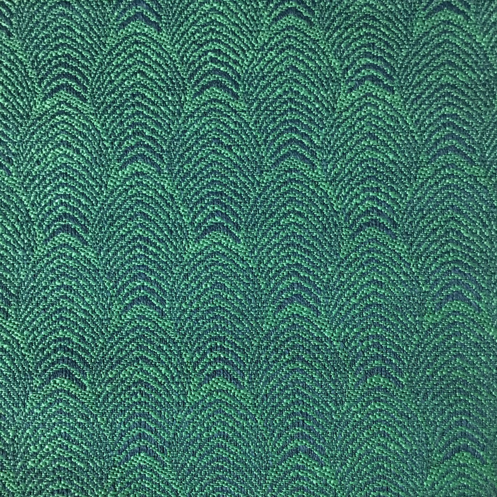 Carnaby - Jacquard Fabric Woven Designer Pattern Upholstery Fabric by the Yard - Available in 12 Colors - Emerald - Top Fabric - 9