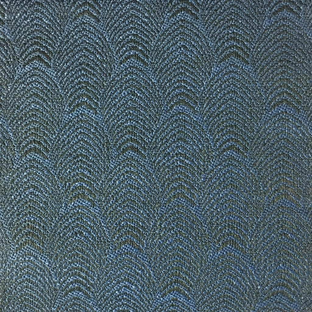 Carnaby - Jacquard Fabric Woven Designer Pattern Upholstery Fabric by the Yard - Available in 12 Colors - Indigo - Top Fabric - 8