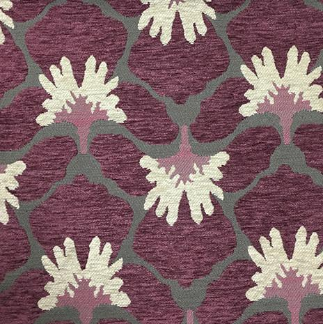 Chelsea Floral Pattern Heavy Chenille Upholstery Fabric By The Yard Available In 8 Colors