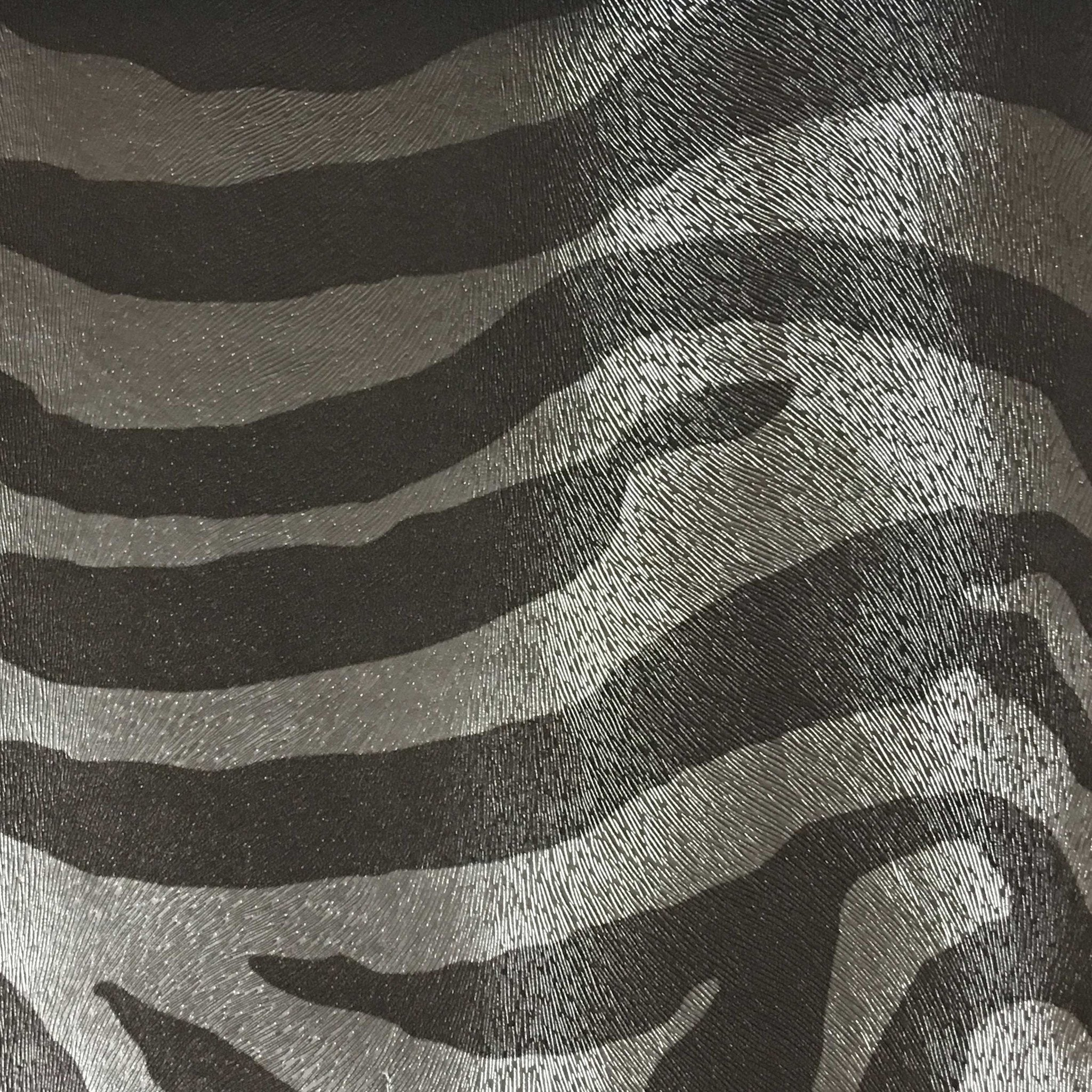 Chester Zebra Print Vinyl Faux Leather Upholstery Fabric By The Yard