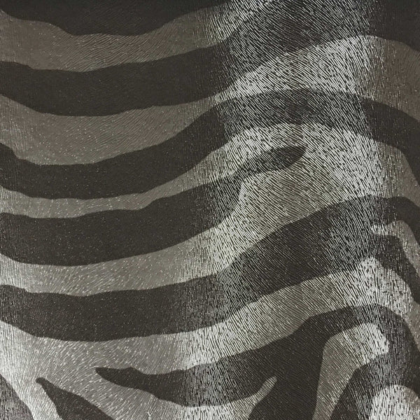 Chester Zebra Print Vinyl Faux Leather Upholstery Fabric