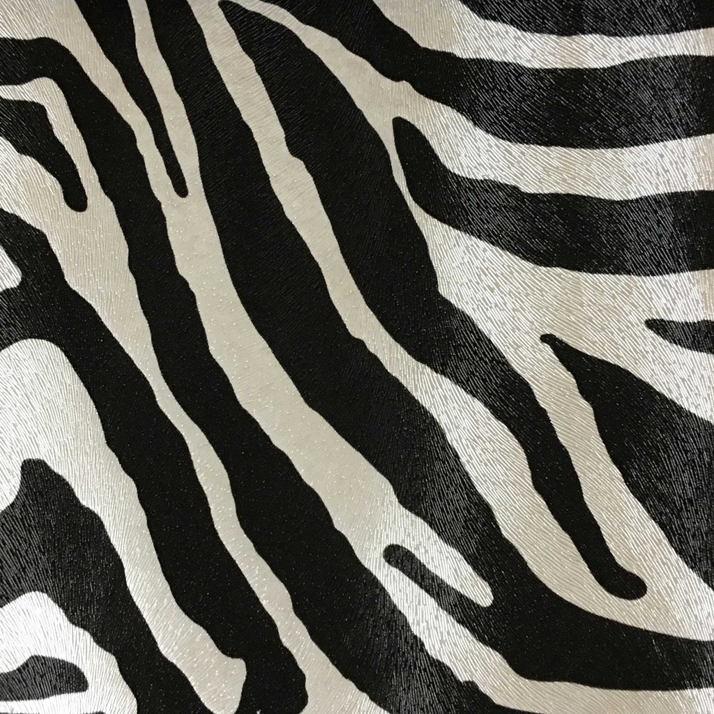 Suede Upholstery Fabric >> Chester - Zebra Print Vinyl Faux Leather Upholstery Fabric by the Yard