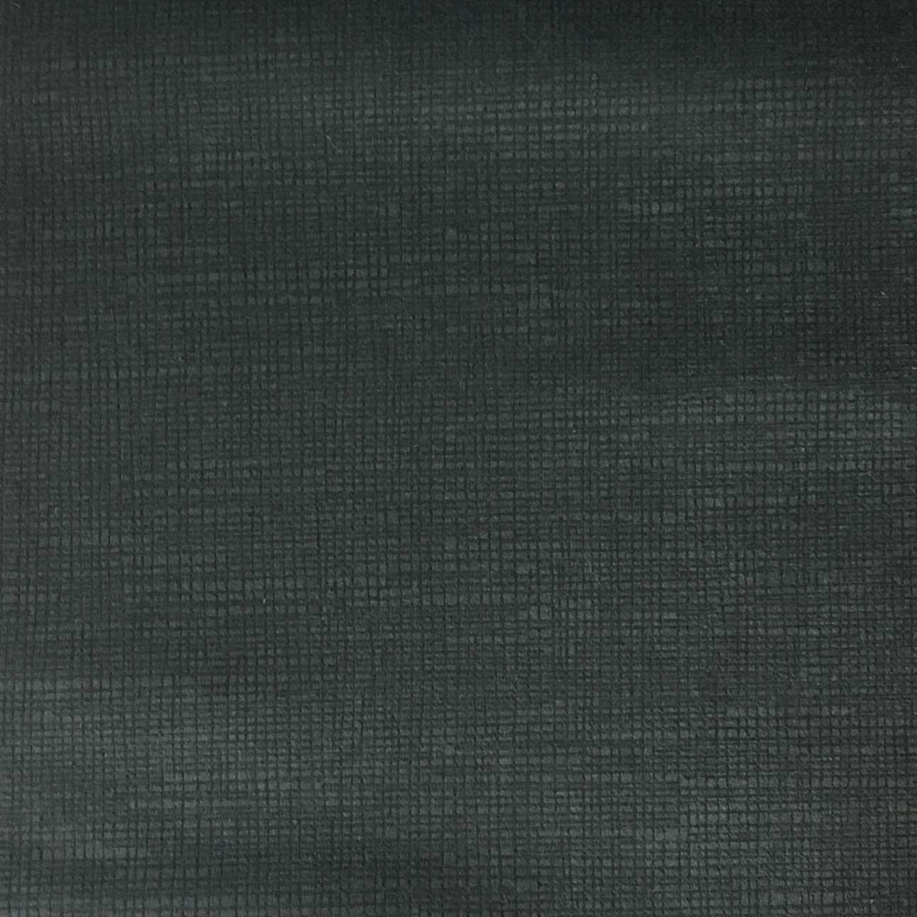Creek - Textured Microfiber Velvet Upholstery Fabric by the Yard - Available in 20 Colors - Charcoal - Top Fabric - 1