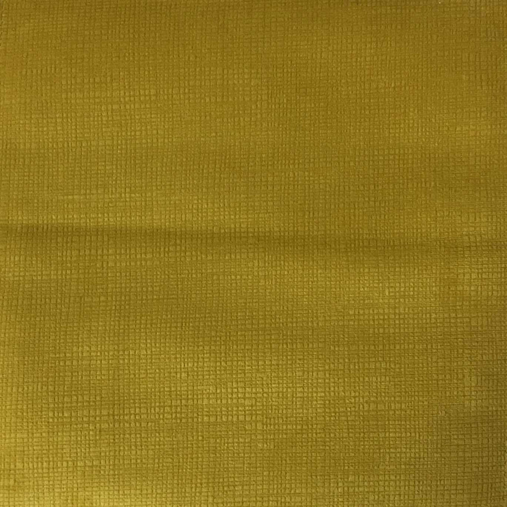 Creek - Textured Microfiber Velvet Upholstery Fabric by the Yard - Available in 20 Colors - Curry - Top Fabric - 6