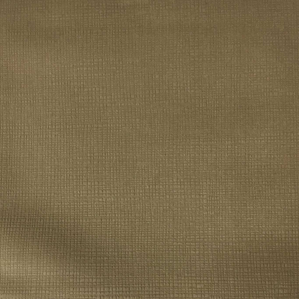 Creek - Textured Microfiber Velvet Upholstery Fabric by the Yard - Available in 20 Colors - Latte - Top Fabric - 15