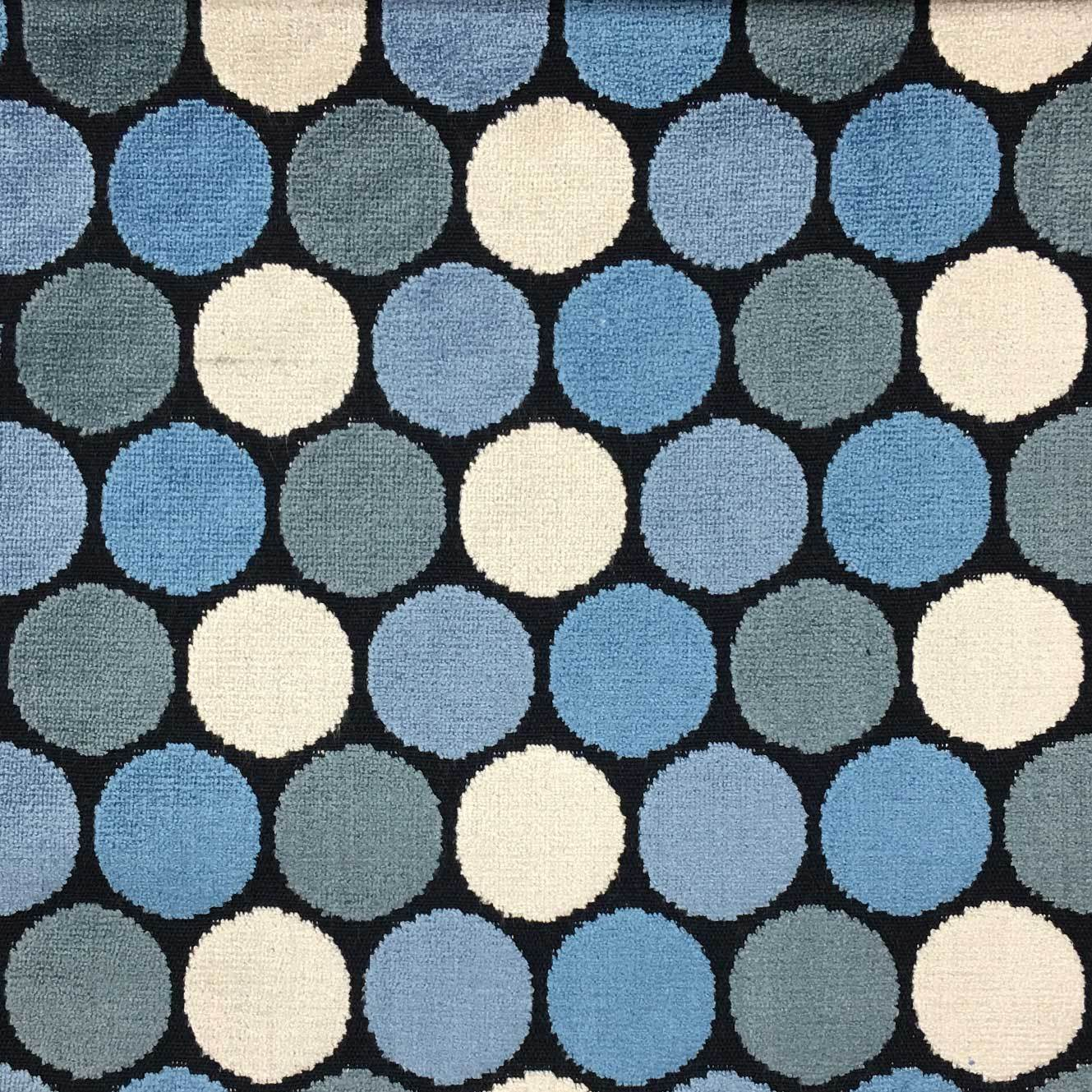 Dab polka dot pattern cut velvet upholstery fabric by for Patterned material for sale