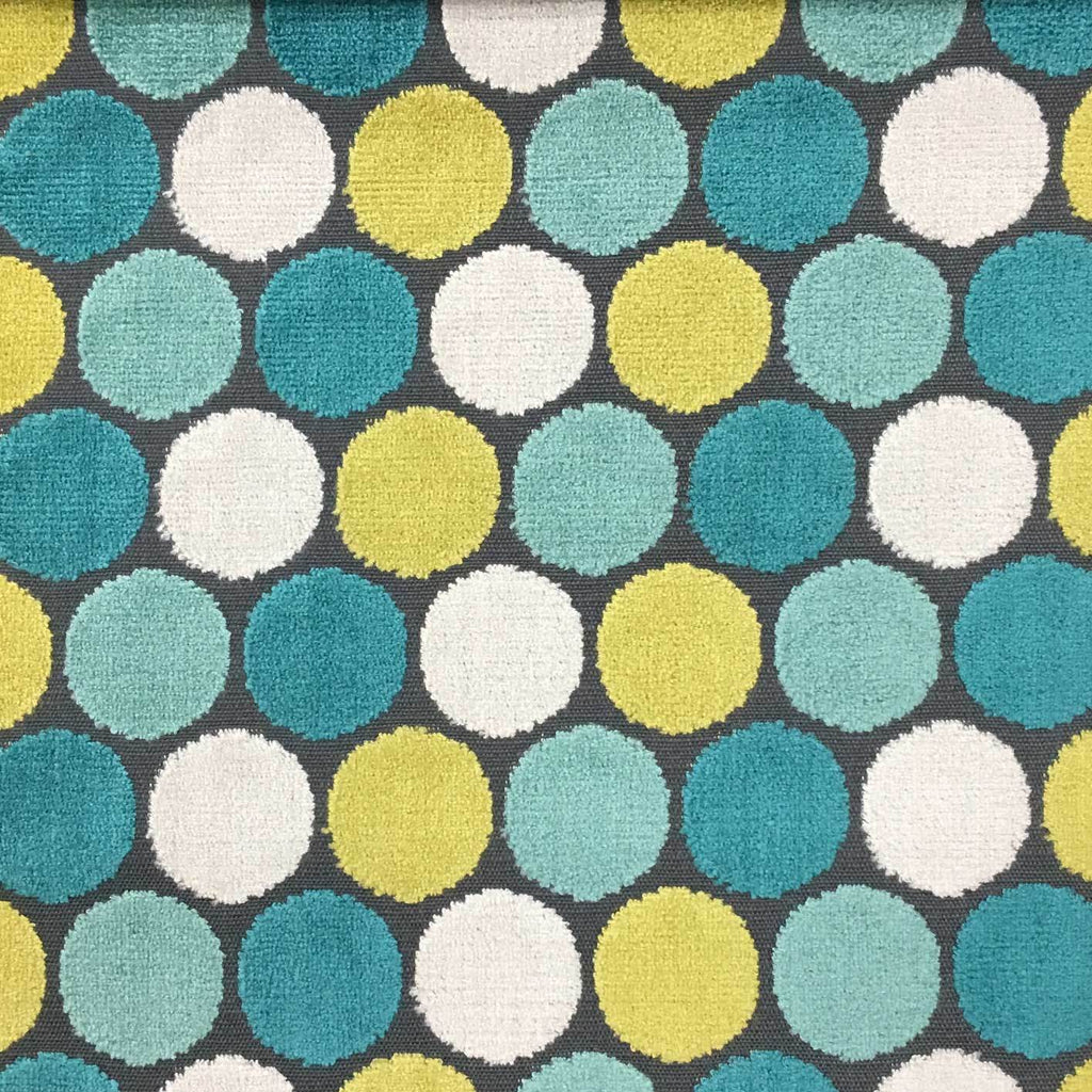 Dab - Polka Dot Pattern Cut Velvet Upholstery Fabric by the Yard